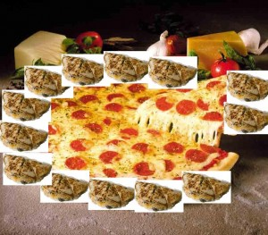 "Microsoft Paint = not likely to be used by Pizza Hut for the advertising campgain for the new ""Cheesy Quesadilla Gut-Bomb Pizza"""