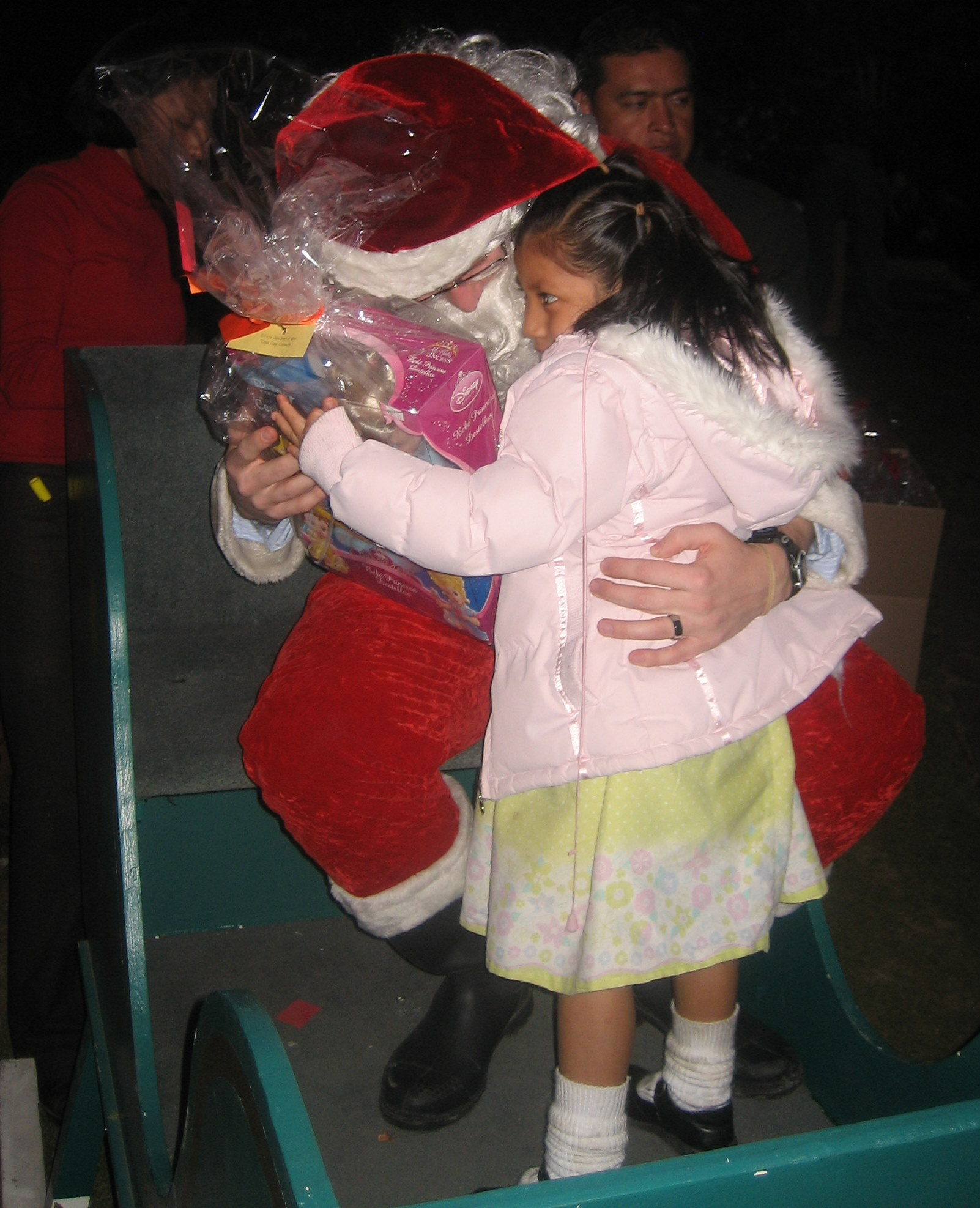 I got big hugs from most of the little ones; some even gave me a piece of candy or other small gift