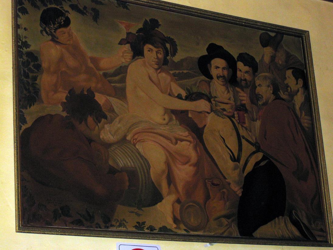 So...this painting was on the wall in Bar Mancera....I'm not exactly sure what is being depicted here, but it seems a little sketchy...