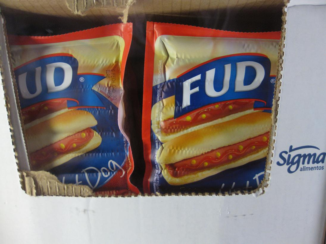 "OK, this isn't super-relevant to the swine flu, but who was the marketing wizard behind this brand of hotdogs?? ""See guys, the thing is, they really aren't food, since they are all just lips & *ssholes, so that's why we'll call them FUD instead. I already submitted the copyright. Whaddya think?"""