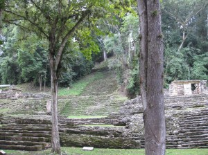 Check out the staircase leading up from the main plaza to the Great Temple.
