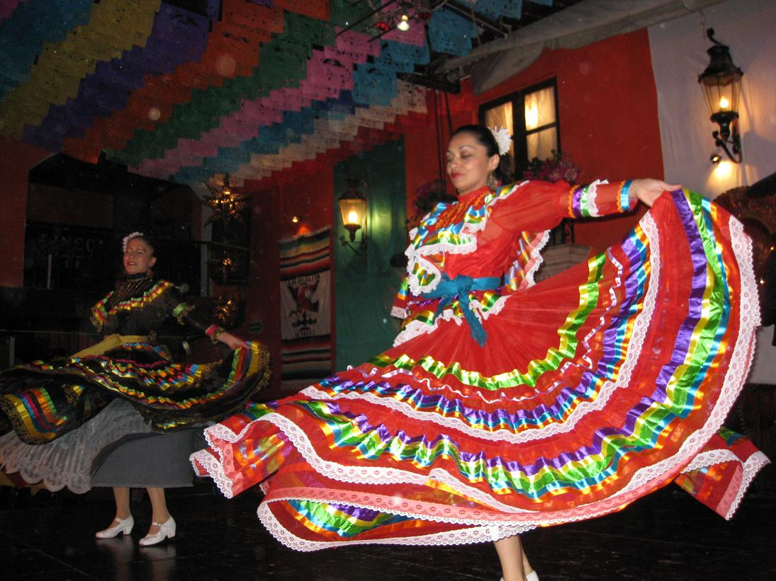 The dancers had these amazing, brightly-colored dresses...