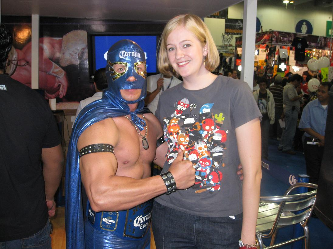Speaking of Corona, this man was most certainly NOT a professional luchador... but he was ripped & I didn't have to pay to take a photo with him. (Most of the pro luchadors were charging $20-30 pesos per photo.)