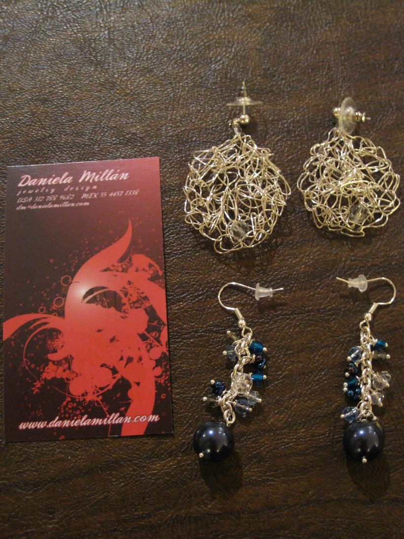Next up, a small non-apartment-decor purchase: lovely earrings from friend & jewelry designer Daniela!