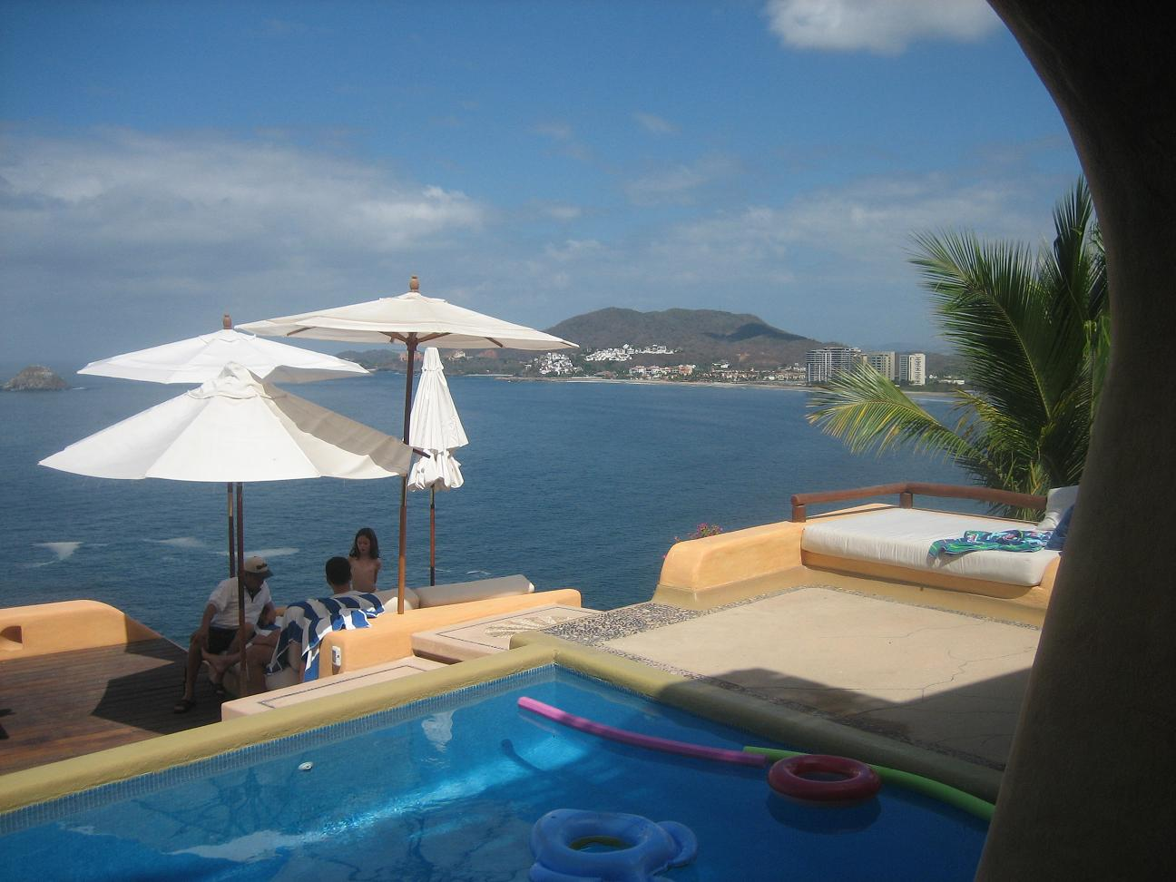 The view over Ixtapa's bay from Casa del Sol