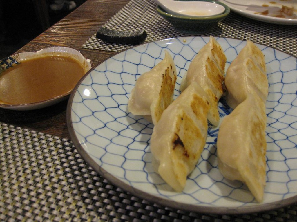 Finally, we had the taiwanese-style gyoza, which are first steamed & then briefly pan-fried on one side.